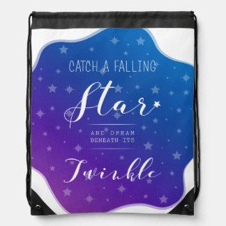 Catch a Falling Star Drawstring Bag