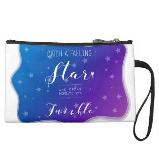 Catch a Falling Star Suede Wristlet