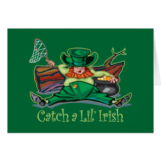 Catch an Irish Leprechaun Card