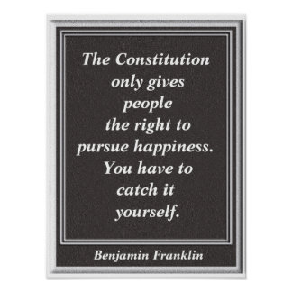 Catch it yourself - Ben Franklin quote - print