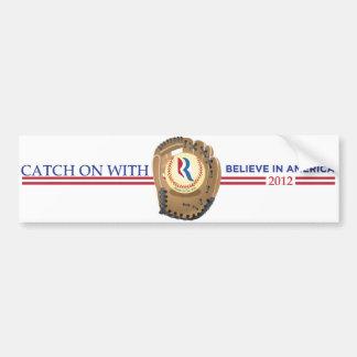 """""""Catch On With Mitt"""" 2012 Bumper Sticker"""