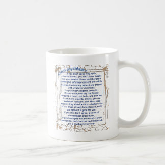 Catch psychiatric coffee mug