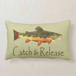 Catch & Release Trout Fishing Lumbar Pillow