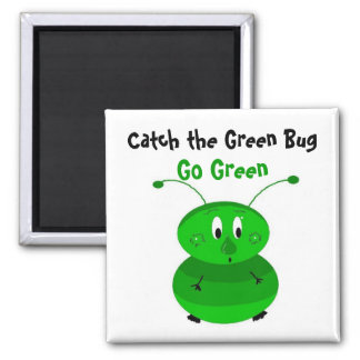 Catch the Green Bug Magnet