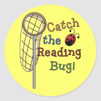 Catch the Reading Bug Tshirts and Gifts Round Sticker