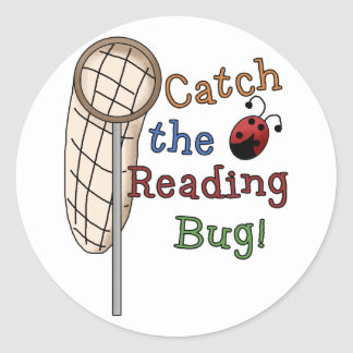 Catch the Reading Bug Tshirts and Gifts Stickers