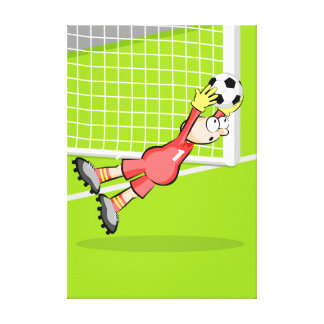 Catched sensational soccer of the doorman canvas print