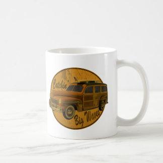 catchin' big waves in the woodie coffee mug