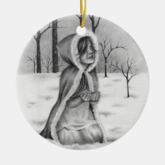 Catching Snowflakes Christmas Ornament