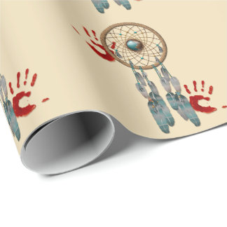 Catching Spirit Native American Wrapping Paper