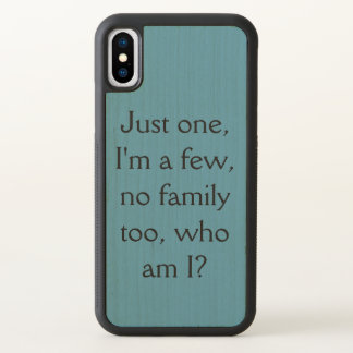 catchphrase for sestra--just one I'm a few,no fami iPhone X Case