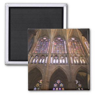 Catedral de Leon, interior stained glass windows 2 Square Magnet