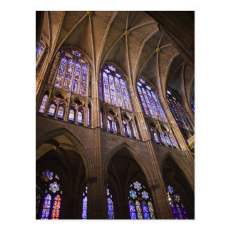 Catedral de Leon, interior stained glass windows Postcard