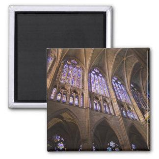 Catedral de Leon, interior stained glass windows Square Magnet