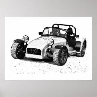 Caterham car poster