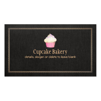 Catering Cupcake Bakery Pastry Chef Double-Sided Standard Business Cards (Pack Of 100)