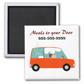 Catering Delivery Business Square Magnet