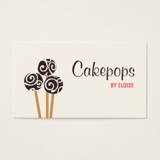 Catering Pastry Chef Baking Cakepops Dessert Cream Business Card