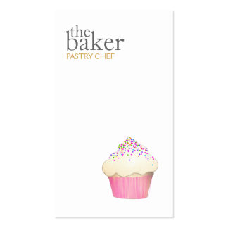 Catering Pastry Chef Baking Cupcake Modern Simple Pack Of Standard Business Cards