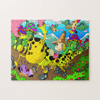 Caterpillar car jigsaw puzzle