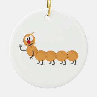 Caterpillar Ceramic Ornament