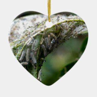 Caterpillar Hatch Cocoon Rain Fall Ceramic Ornament