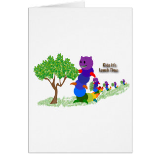 Caterpillar MOM Kids it's-Lunch Time Greeting Card