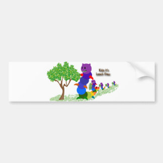 Caterpillar MOM Kids it's-Lunch Time Greeting Card Bumper Sticker