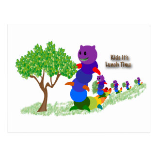 Caterpillar MOM Kids it's-Lunch Time Greeting Card Postcard
