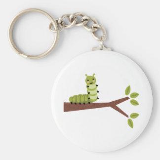 Caterpillar on Twig Key Ring