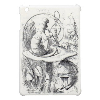 Caterpiller Smokes a Hookah on am ushrooa iPad Mini Cover