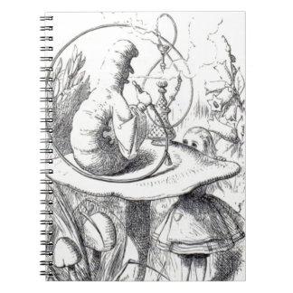 Caterpiller Smokes a Hookah on am ushrooa Notebooks