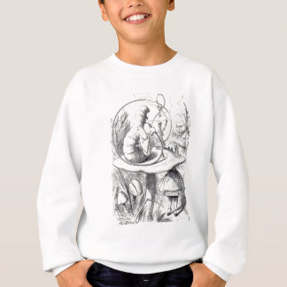 Caterpiller Smokes a Hookah on am ushrooa Sweatshirt