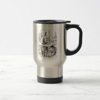 Caterpiller Smokes a Hookah on am ushrooa Travel Mug
