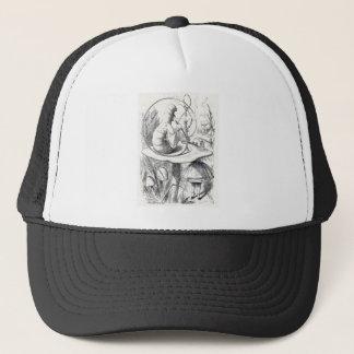 Caterpiller Smokes a Hookah on am ushrooa Trucker Hat