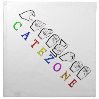 CATEZONE FINGERSPELLED ASL NAME SIGN NAPKIN