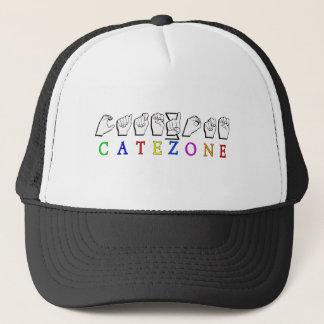 CATEZONE FINGERSPELLED ASL NAMESIGN TRUCKER HAT