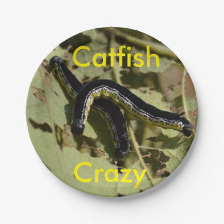 Catfish Crazy Catalpa Worms 7 Inch Paper Plate