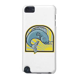 Catfish Jumping Sunburst Cartoon iPod Touch (5th Generation) Cases