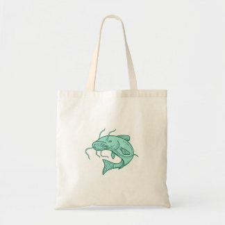 Catfish Mud Cat Jumping Mono Line Tote Bag