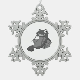 Catfish Pewter Snowflake Decoration