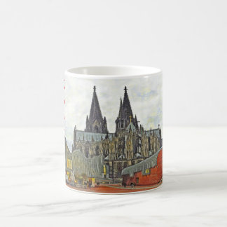 Cathedral and Museum Ludwig in Cologne. Coffee Mug