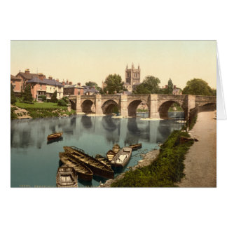 Cathedral and Wye Bridge, Hereford, Herefordshire Card