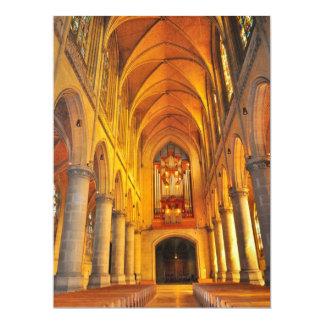 Cathedral architecture 17 cm x 22 cm invitation card