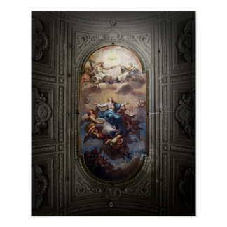 Cathedral Ceiling, Rome Poster