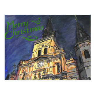 Cathedral Christmas Postcard