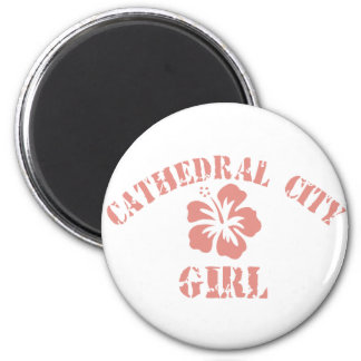 Cathedral City Pink Girl Fridge Magnets