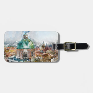 Cathedral Dome in Prague Czech Republic Luggage Tag