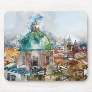 Cathedral Dome in Prague Czech Republic Mouse Pad