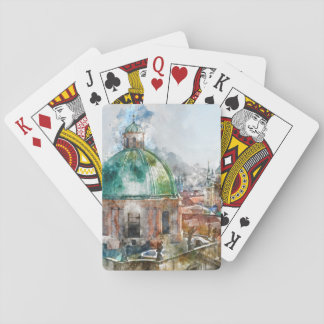 Cathedral Dome in Prague Czech Republic Playing Cards